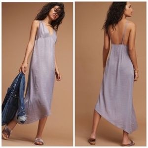[Anthropologie] Lilac Asymmetrical Hem Slip Dress